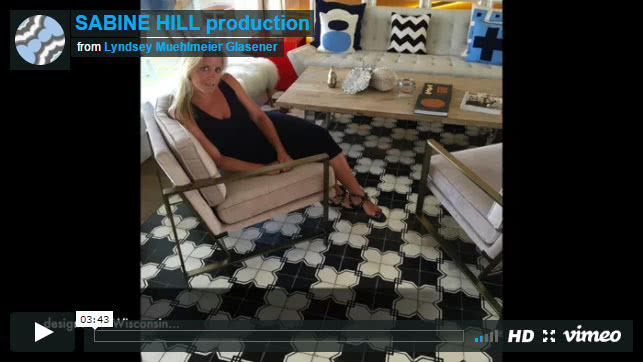 Handmade Cement Tile by Sabine Hill (Video)