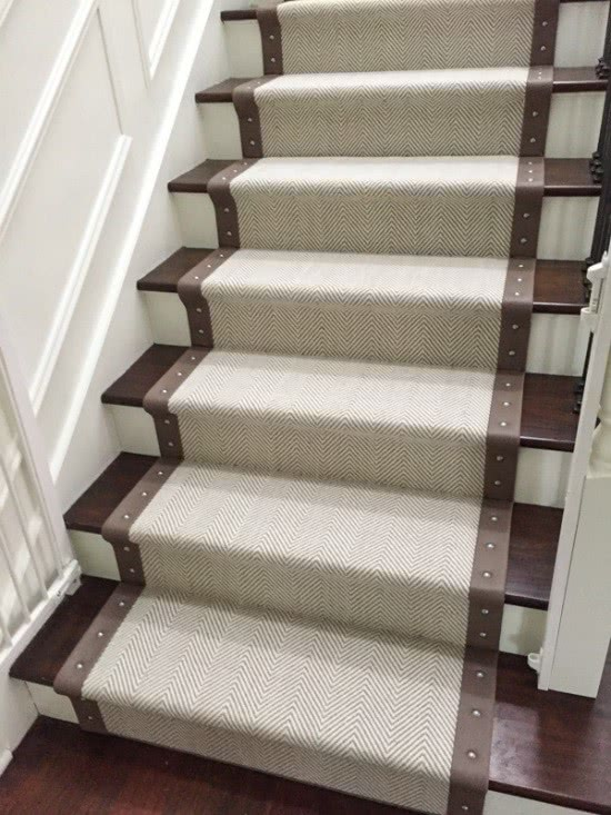 Linen Borders Leather And Even Other Carpet Any Type Of Finish You Want For A Stair Runner Can Also Be Done As Custom Area Rug