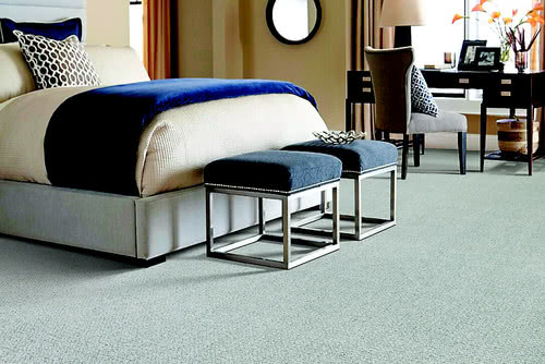 Cascade Views carpet has a subtle pattern that offers a chic checked look. This reverse tonal carpet is crafted of durable, soft Kashmere nylon and treated with Scotchgard Advanced Repel Technology.