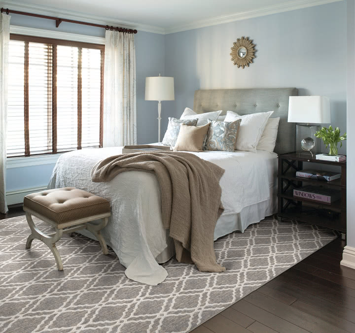 Bring a touch of character witha bold patterned rug. This grey and white pattern works with almost any color combination.