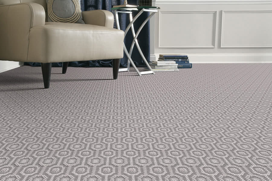 This Brilliant Wool -<a data-cke-saved-href='https://homecarpetone.com/carpet/wool_patterned_carpet_and_wiltons/stanton/' href='https://homecarpetone.com/carpet/wool_patterned_carpet_and_wiltons/stanton/' target='_blank'> wilton carpet from Stanton</a> adds texture and warmth to a neutral living room.