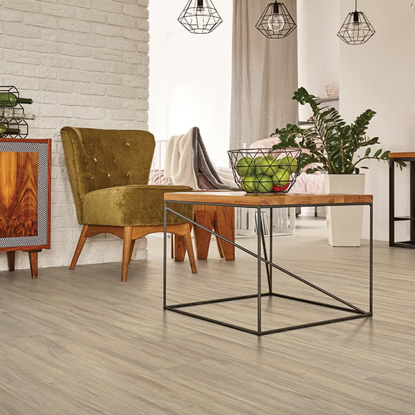 Whether your design style is bohemian, modern or traditional, these Dixie vinyl planks in 'Weathered' will help make your home feel like home.