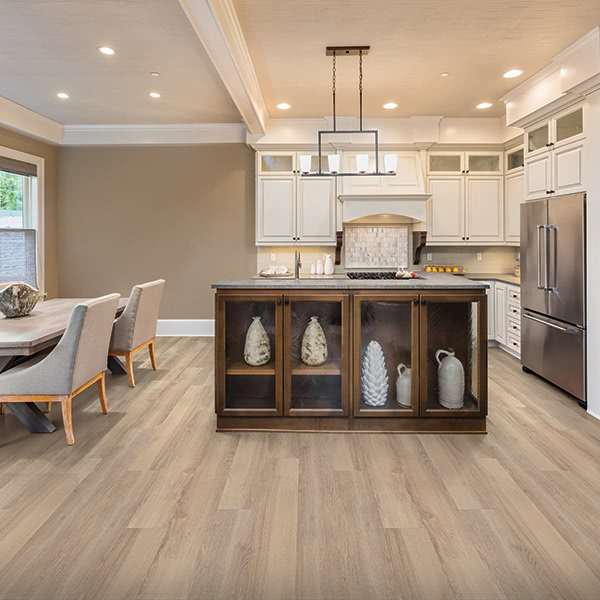 Create a farmhouse chic style with this Masland Vinyl floor in Alpine.