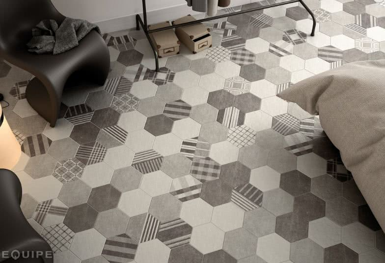 Make a bold statement with these elegantly patterned porcelain tiles from <a data-cke-saved-href='/shop/item/Hexatile/1293/Hexatile_Tile' href='/shop/item/Hexatile/1293/Hexatile_Tile' target='_blank'>Hexatile</a>. Available in patterned and solid colors, these tiles are the perfect way to add a little - or a lot of texture to any room.