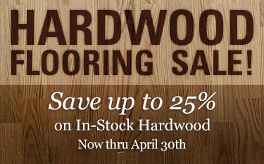 Hardwood Flooring Sale - Up to 25% off