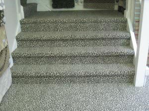 The Stairs Leading Up To Our Area Rug Showroom Have Been Re Vamped With A  Very Designer Chic Leopard Print Carpet.