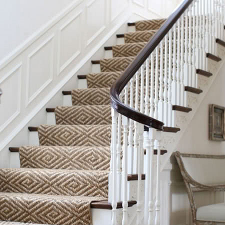 Stair Runner. Sisal Waterfall