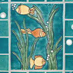 Fish Bowl Tile by BonTon