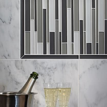 Cloud Blend Mosaic Glass tile by AKDO