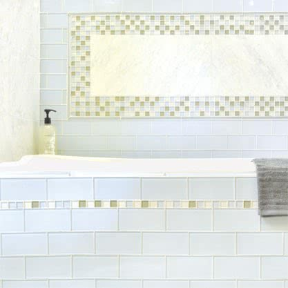 Heavenly Blend Mosaic Glass tile by AKDO