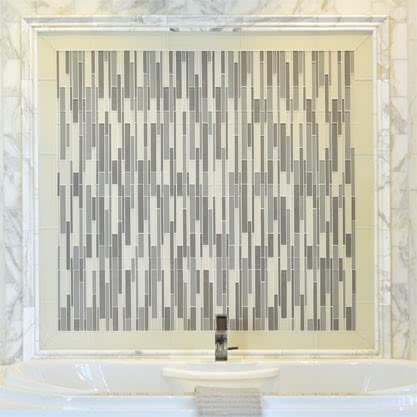Luxe Blend Mosaic Glass tile by AKDO