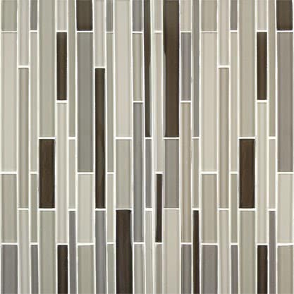 Neutral Blend Mosaic Glass tile by AKDO
