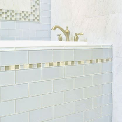 Powder Mosaic Glass tile by AKDO