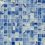 Bonsai Blue mosaic glass tile by Alys Edwards