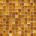 Burst of Gold mosaic glass tile by Alys Edwards