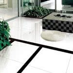 Black & White porcelain tile by Eleganza