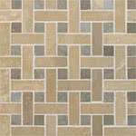 Basketweave Honed stone & mosaic tile by GBI