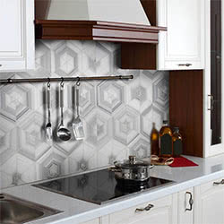 Milano Blend Polished stone & mosaic tile by Marble Systems