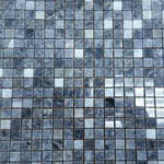 Gray Polished stone & mosaic tile by Mosaico Italiano