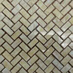 Honey Onyx Herringbone Polished stone & mosaic tile by Mosaico Italiano