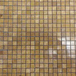 Inca Gold Polished stone & mosaic tile by Mosaico Italiano