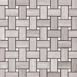 Basket Weave Mosaic Honed stone & mosaic tile by Pera Tile