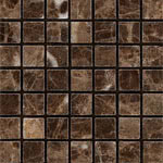 Square_Mosaic_Polished stone & mosaic tile by Pera Tile