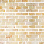 Brick Polished Mellona stone & mosaic tile by Sessemo
