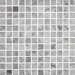 Square Polished Carrara stone & mosaic tile by Sessemo